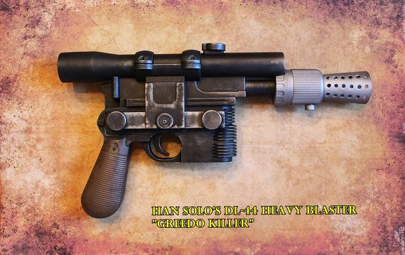 Han Solo's DL-44 Heavy Blaster from Star by GeekHouseCreations | smiles |  Pinterest | Star and Cosplay