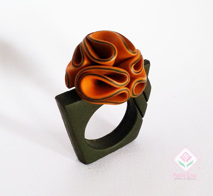 https://flic.kr/p/rEQsiS | Polymer Clay - Flower ring,,