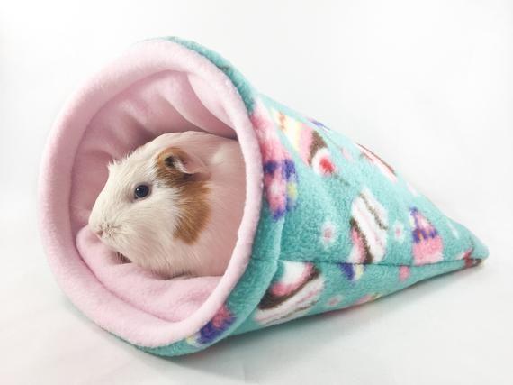 Snuggle Sack Cuddle Bag for Guinea Pigs Hedgehogs Rats Chinchillas fleece