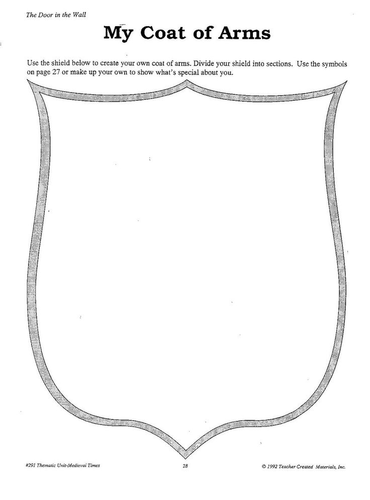 how to write a coat of arms speech outline