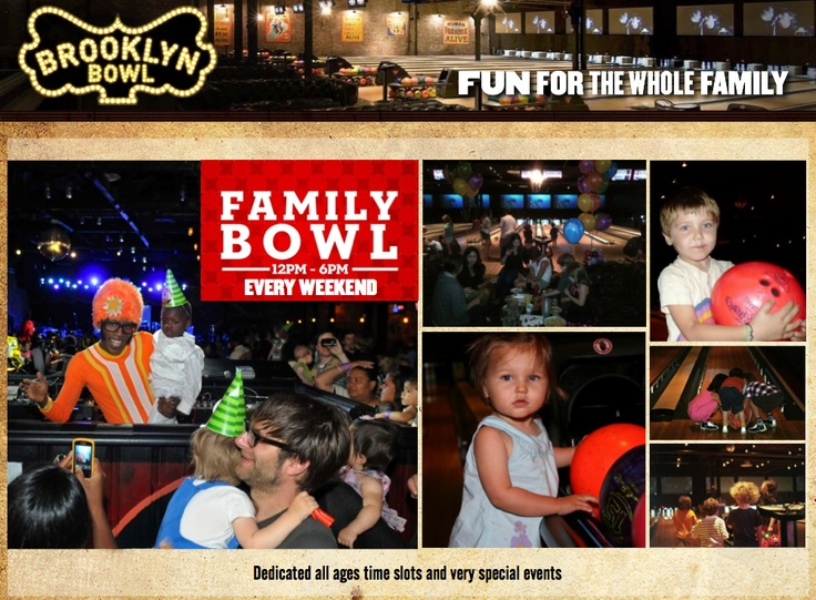 FAMILY BOWL: FUN FOR THE WHOLE FAMILY :: Brooklyn Bowl = Food by Blue Ribbon + 16 lane bowling alley + 600 capacity live music venue :: located in Brooklyn, NY. // Find us on Twitter & Instagram @brooklynbowl - FB: http://bkbwl.com/gVLVzS // #BrooklynBowl - #BowlingAlley - #LiveMusicVenue - #BlueRibbonFood - #LiveMusic - #BrooklynBowlEvents - #BrooklynNightlife - #NYC - #Entertainment - #NewMusic - #Concerts - #FamilyBowl - #FamilyFun