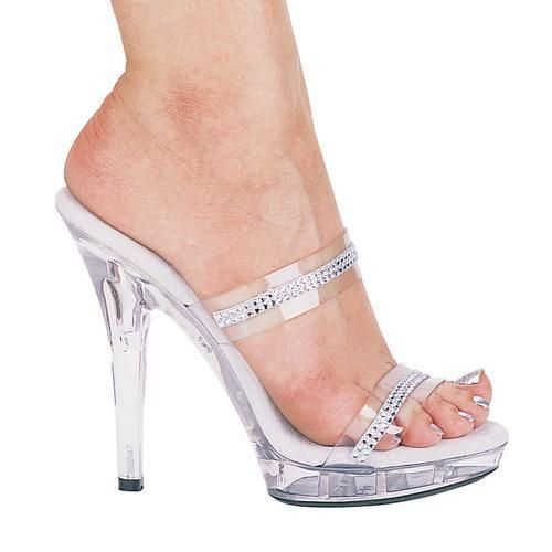 """5"""" Heel Rhinestone Sandal."""
