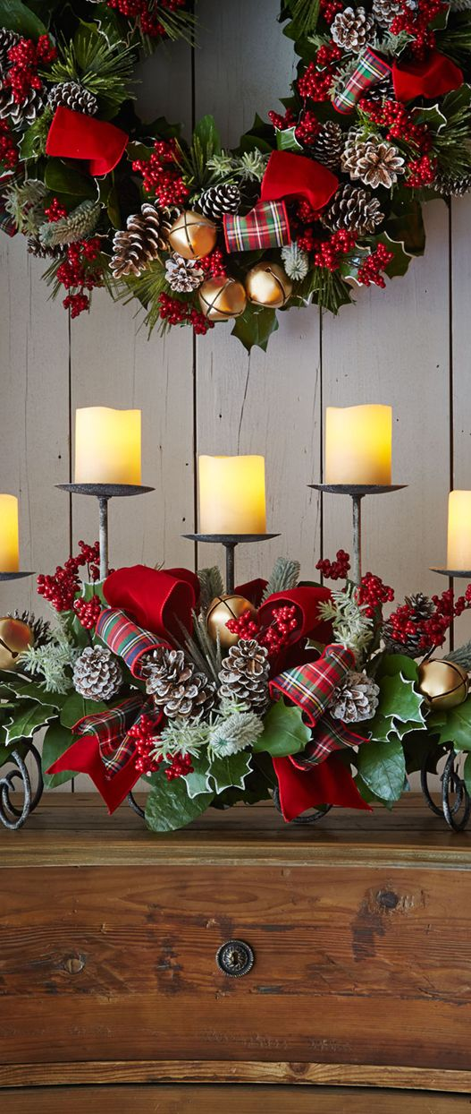 Rustic Christmas Display - I love Christmas plaid!you can check dis out http://VisitsToMoney.com/index.php?refId=311586: