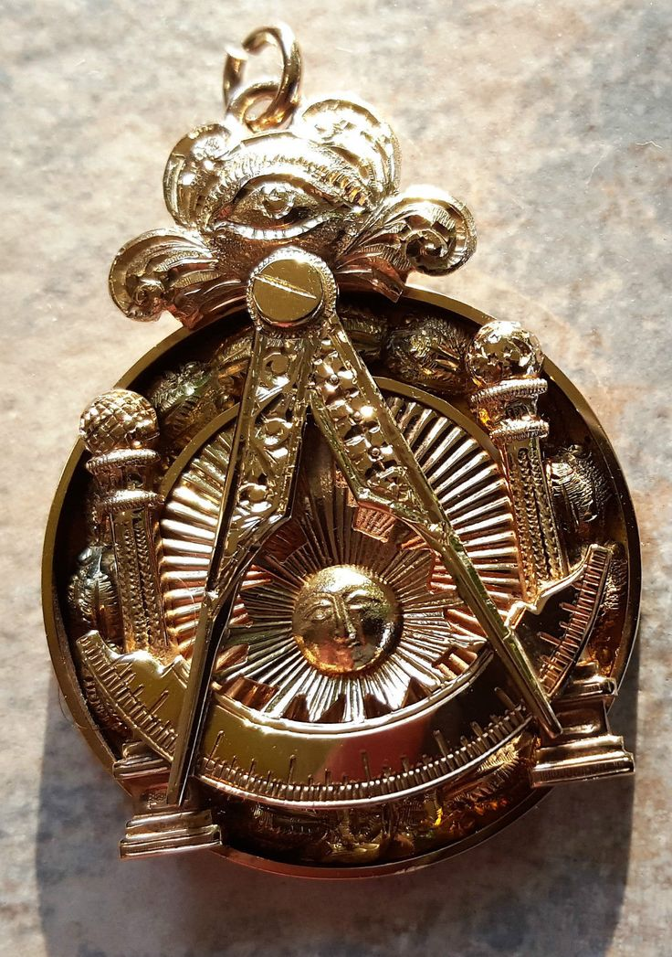 14k Gold Masonic Past Master Watch Fob Masonic Vintage