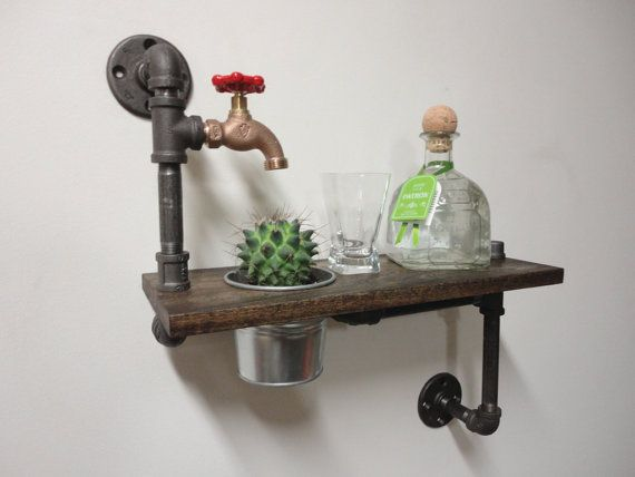 Pipe Shelf  the Bartender by Mobeedesigns on Etsy, $139.97