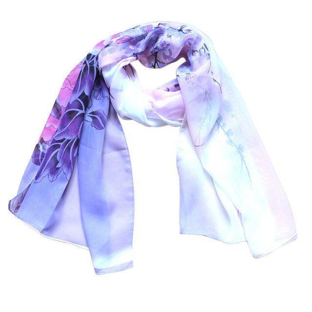 Chiffon Silk Scarf Women Fashion Designer Brand Scarf Winter Shawls And Scarves Sjaal Cachecol Echarpes Foulards Femme
