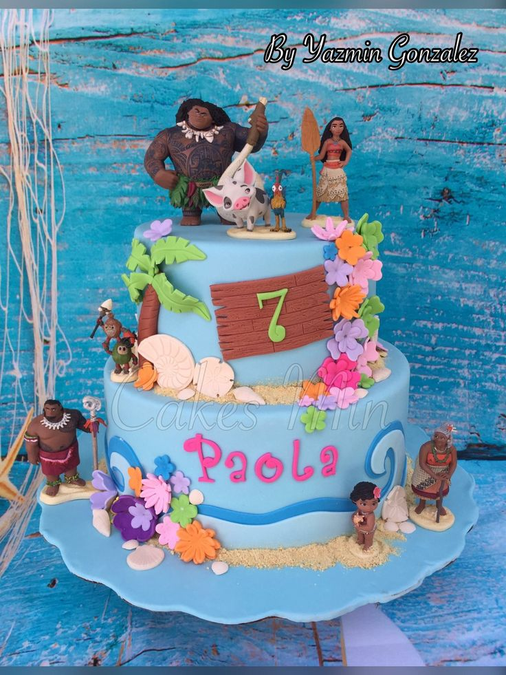 Moana Cake Moana Birthday Party Moana Theme Birthday