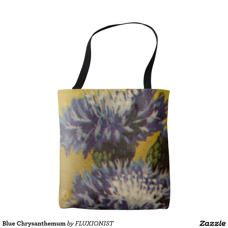 Blue Chrysanthemum Tote Bag - $20.50 Made by Manual WW / Design: Fluxionist