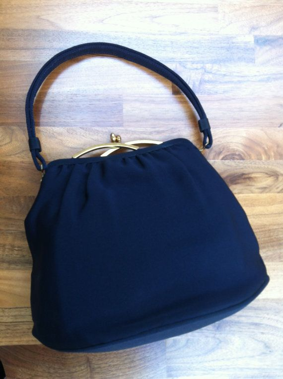 1950s Garay Navy Purse