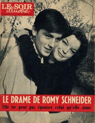 Alain Delon and Romy