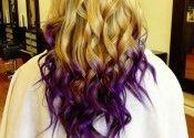 Purple dip hair