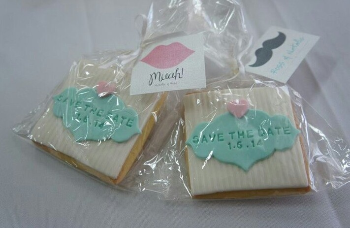 Save our wedding date cookies