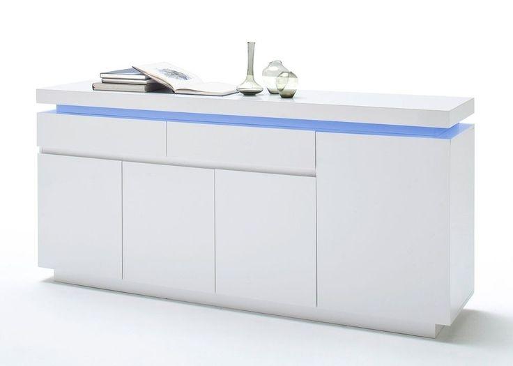 Sideboard Ocean Anrichte Mit LED Farbwechsel Weiß Hochglanz 8195. Buy Now  At Http:/