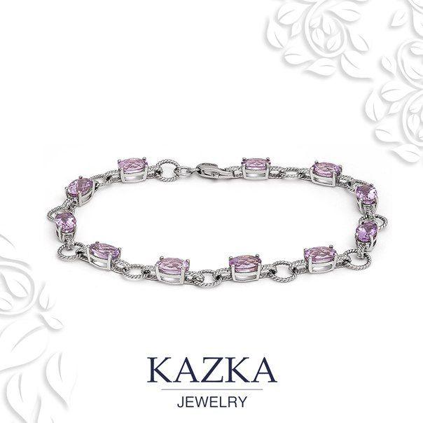 Сегодня одна клиентка рассказала нам, что мечтает о золотом браслете с аметистами. МЫ считаем, мечты должны сбываться!  Приобрести за 20 030 грн. http://goo.gl/6XPAx1  #kazkajewelry #украшения_kazkajewelry