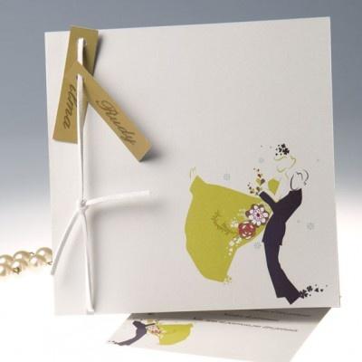 On Se Marie Faire Part Mariage Original Romantique 2013 JM105 #weddinginvitations #weddingcards #joyeuxmariage
