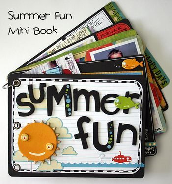 summer fun minialbum. I did one last year but this looks much more colorful! :)