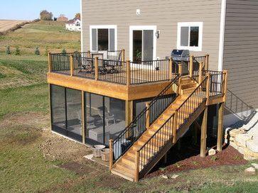 Screen Porch Under Deck | 45,648 screen porch deck Home Design Photos #deckdesigns #deckbuildingplans