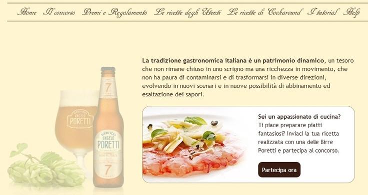 Concorso Birra Poretti: per info, regolamento e premi http://www.cookaround.com/concorsi/in-cucina-con-i-luppoli