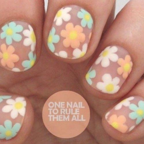 ✨Weekend Mani✨ Negative space flower nail art tutorial via @divinecarolineteam Products Used: #SallyHansen -Shall we dance and #Deborah Lippmann - Flowers in her hair
