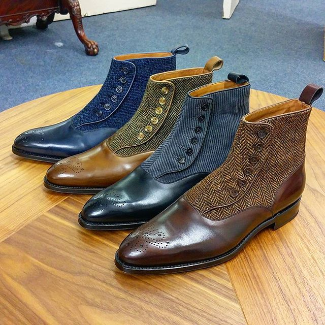 "New members of the family: Button Boots by Justin ""The Shoesnob"" Fitzpatrick"