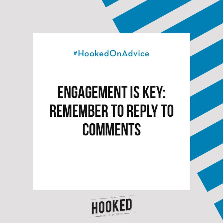 Getting people to engage with your content is a lot harder than putting it out there in the first place. So when someone does respond to your content, it's important to positively reinforce that behaviour! Even if you just reply with a simple thank you, it will make the commenter feel valued and encourage them to take more notice of your posts. Take the time to comment on someone else's content and you'll see what I mean! #HookedOnAdvice