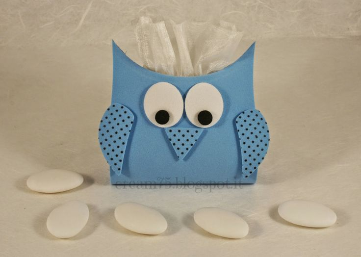 My Sweet Blog: Porta confetti a forma di gufo
