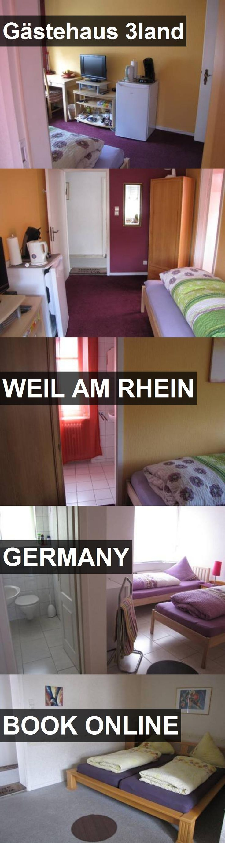 Hotel Gästehaus 3land in Weil am Rhein, Germany. For more information, photos, reviews and best prices please follow the link. #Germany #WeilamRhein #travel #vacation #hotel