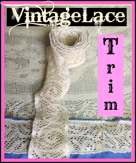 DIY Vintage Lace Trim - How to upcycle lace tablecloth, curtains, etc. and make lovely vintage lace trim - a tutorial