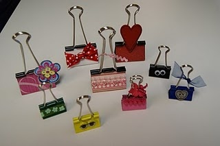 Decorative binder clips