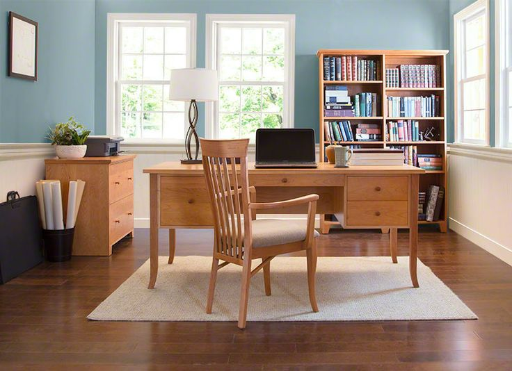Cherry Wood Flare Leg Executive Desk  Home or Office  Solid Wood, Vermont  Made
