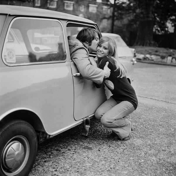 English actress Susan George with her partner Benny Thomas, UK, 7th April 1971.