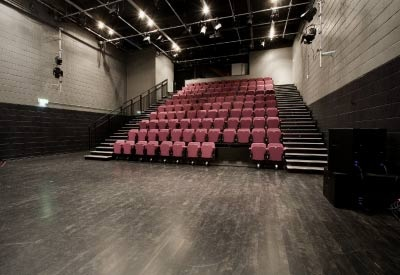 """auditorium of the music box - new venue for Curious Imagination's next performance """"The Twits"""""""