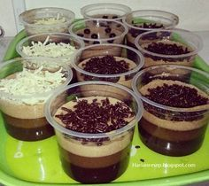 Step by Step Puding Terapung Coklat