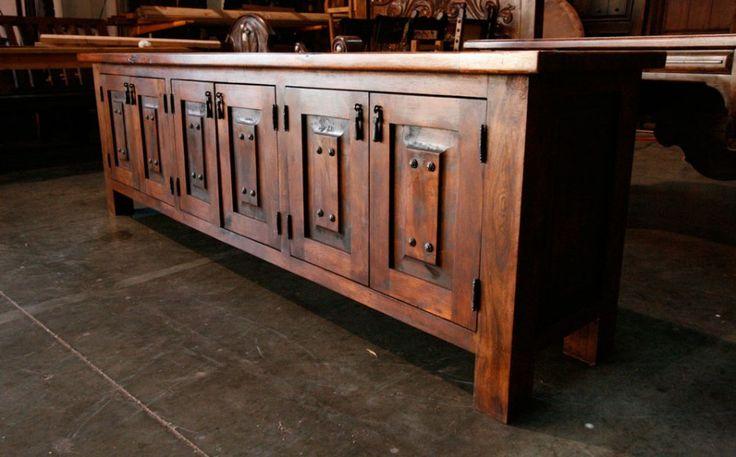 Beverly Sideboard, 92″ X 34″ X 20″  : $4,200.  Custom Mesquite Furniture.