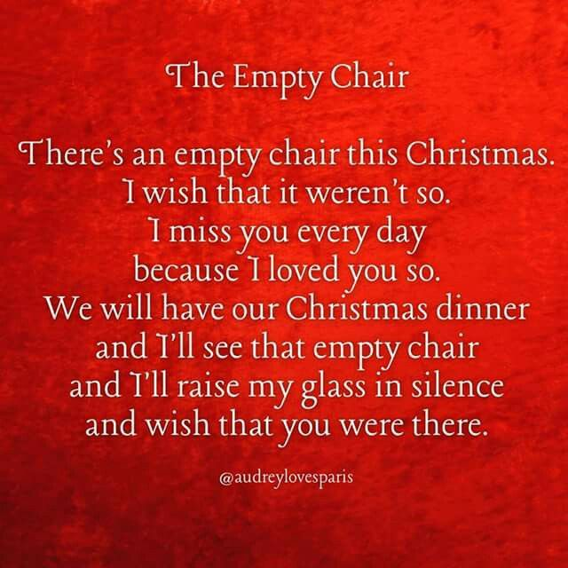 The empty chair...