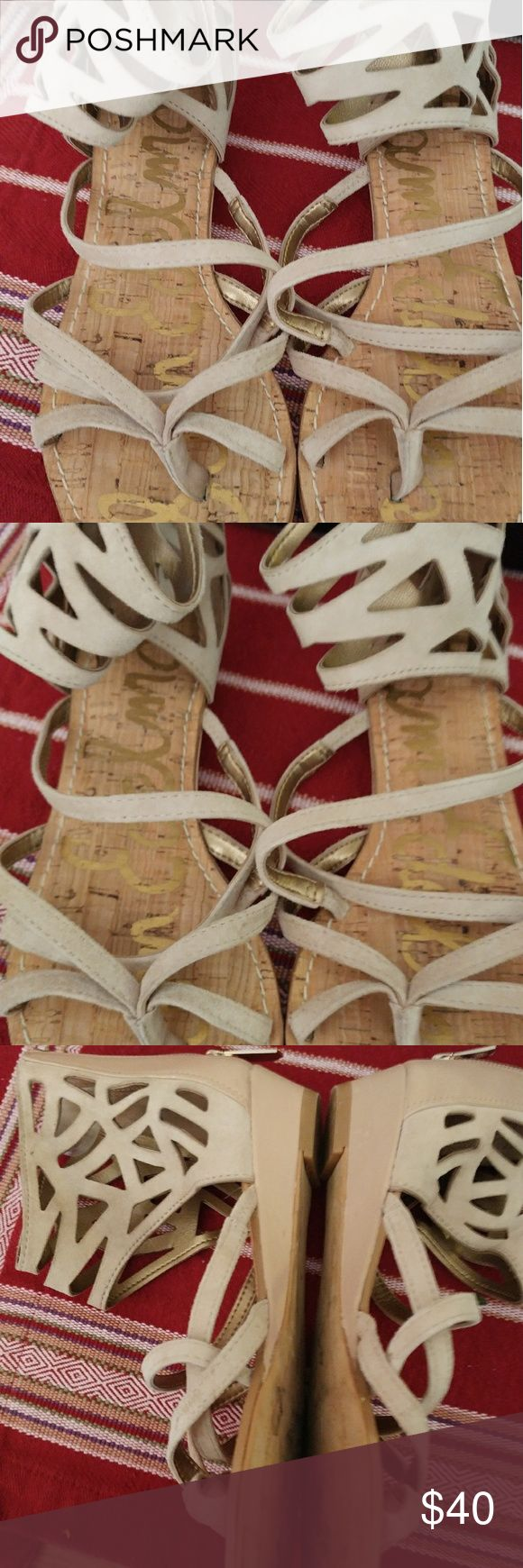 Sam Edleman Dana Gladiator Sandals Size 5 Pre-owned. Worn a couple of times. Authentic. Zipper backing. Sam Edelman Shoes Sandals
