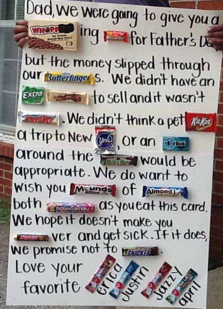 84 best candy quotes images on pinterest candy quotes for Last minute diy birthday gifts for dad