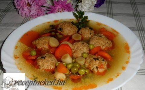 Zöldborsós húsgombócos leves recept fotóval