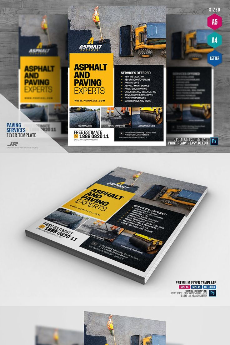 **Asphalt Contractor Flyer** —————- Boost your company's sales and a…