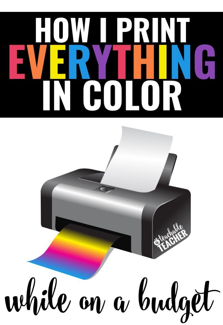 The best printing hack ever! Love what she shares about her teacher printer too!