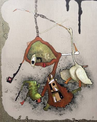 "Saatchi Art Artist Jette Reinert; Painting, ""Do you want to play X-box"" #art"