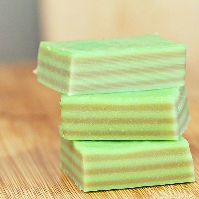 Kuih (Kue) Lapis. Malaysian and Indonesian Layered Steam Rice Cake Flavored With Pandan and Coconut Milk.
