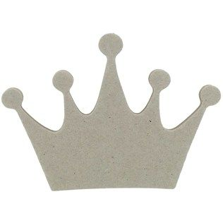 "the Paper Studio 3 1/2"" Chipboard Icon Crown 