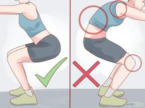 Comment faire des squats avec un mal de genou - wikiHow
