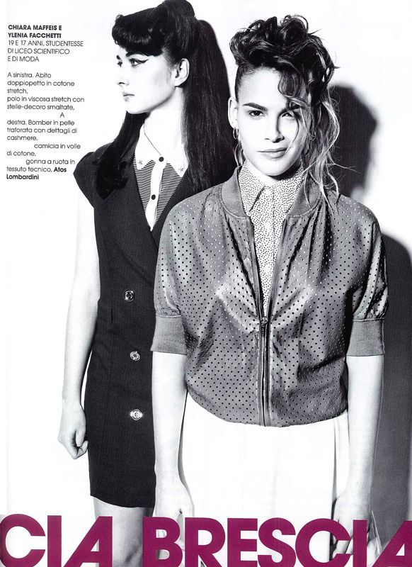 MARIE CLAIRE Italia - August 2013.  White #skirt by #AtosLombardini.