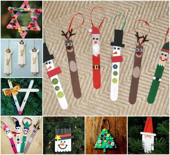 Christmas Popsicle Stick Craft Ornaments