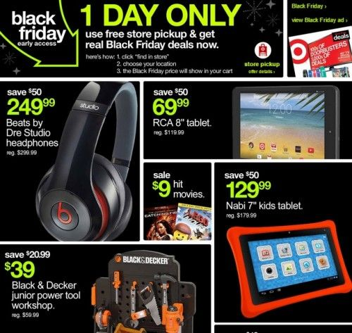 """Today only, Target is offering early access to select Black Friday deals online! This is a great time to order. (Just click where it says """"early access"""" to see all the items.) I spotted lots of go..."""