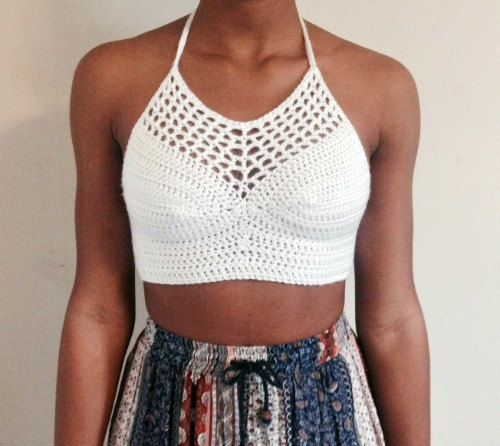 Summer Crochet Halter Top