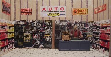 Auto Parts Store Interior