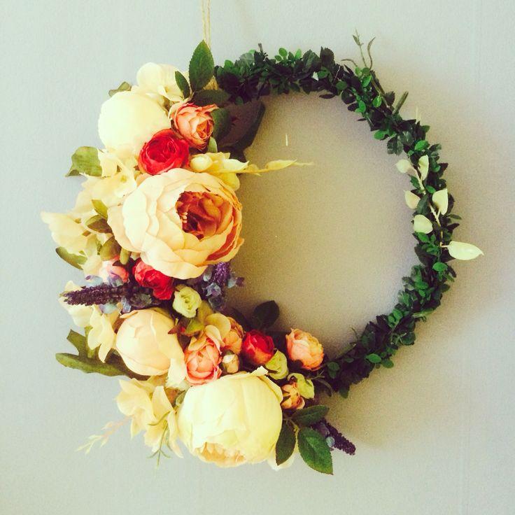 Flower wreath. Wedding present for my sis 2.